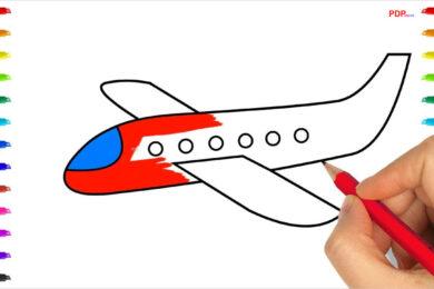 Tranh tô màu máy bay đẹp nhất