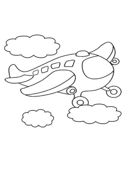 Tranh tô màu máy bay đẹp nhất cho bé tập tô (45)
