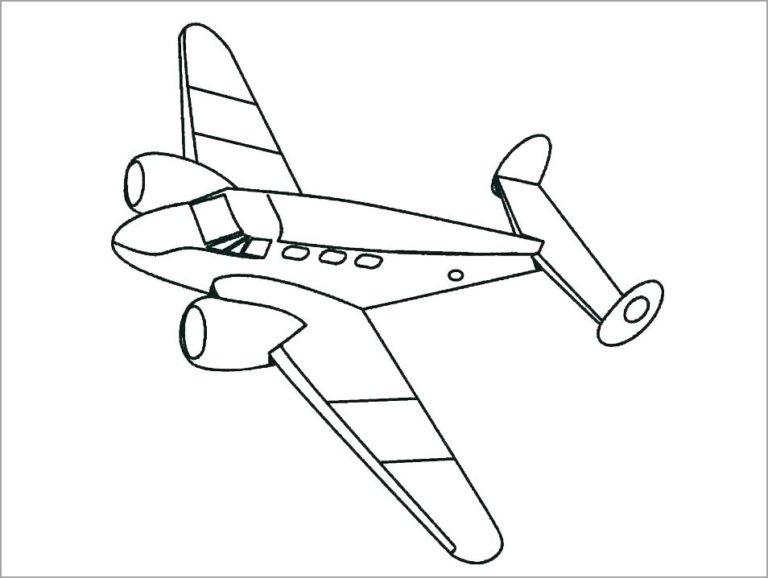 Tranh tô màu máy bay đẹp nhất cho bé tập tô (47)