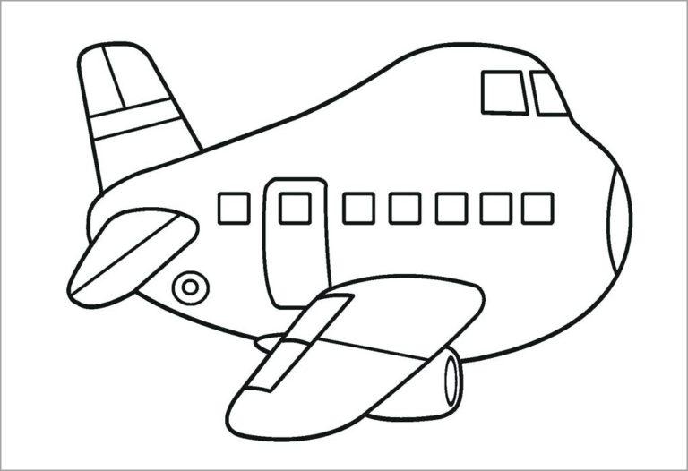 Tranh tô màu máy bay đẹp nhất cho bé tập tô (48)