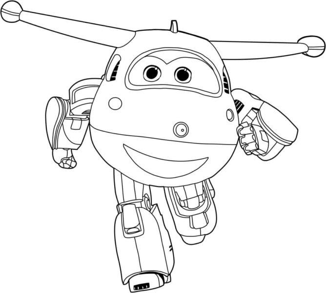 Tranh tô màu máy bay siêu đẳng