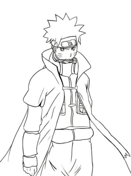 Tranh tô màu Naruto cửu vĩ