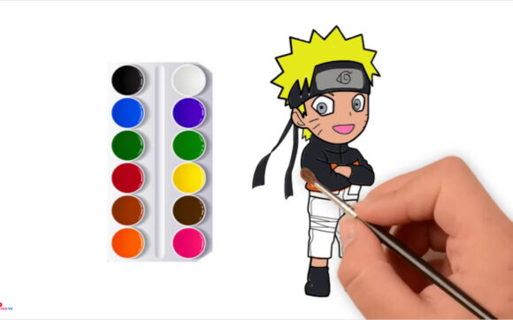 Tranh tô màu Naruto đẹp nhất