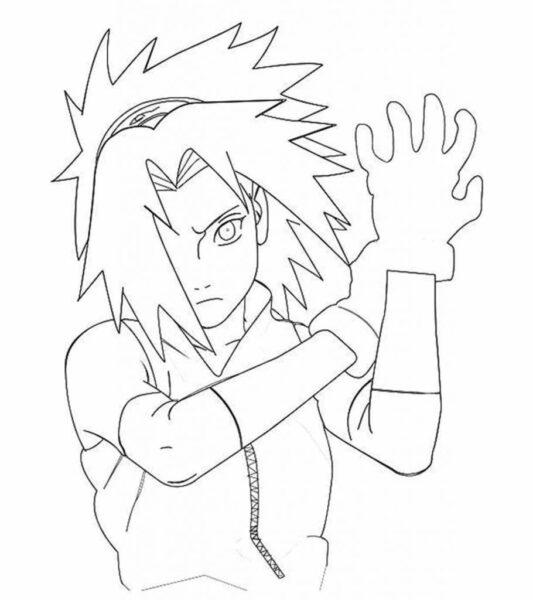 Tranh tô màu Naruto đẹp nhất cho bé tập tô (33)