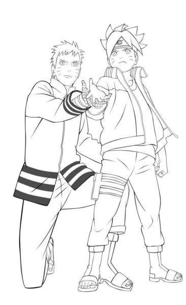Tranh tô màu Naruto đẹp nhất cho bé tập tô (36)