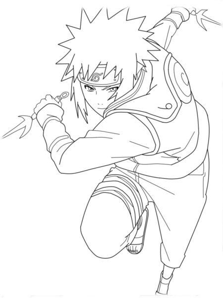 Tranh tô màu Naruto đẹp nhất cho bé tập tô (37)