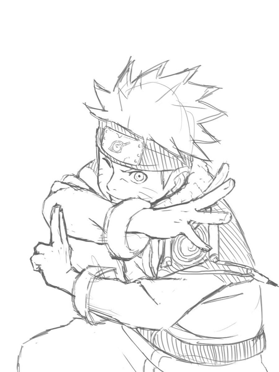 39+ Tranh tô màu Naruto đẹp, ngầu nhất cho bé tập tô