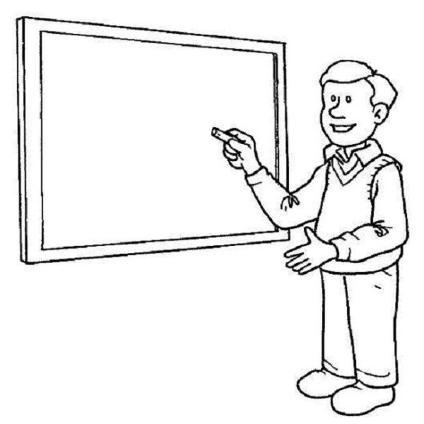 Tranh tô màu nghề giáo viên