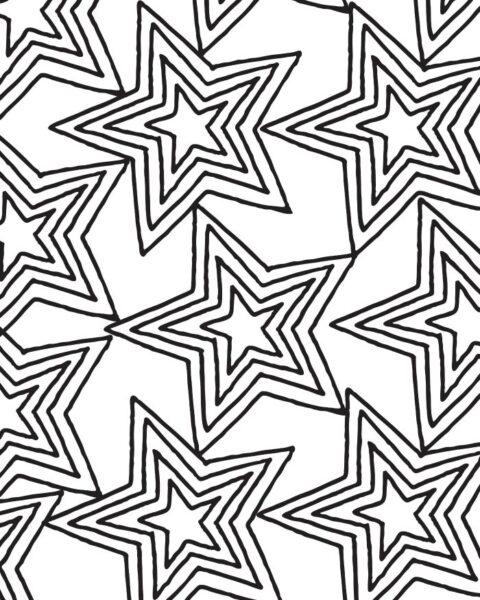 Tranh tô màu ngôi sao đẹp nhất cho bé tập tô (29)