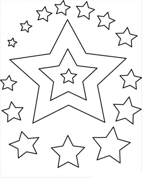 Tranh tô màu ngôi sao đẹp nhất cho bé tập tô (36)