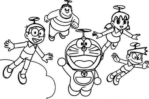 Tranh tô màu Nobita đáng yêu nhất cho bé tập tô (28)