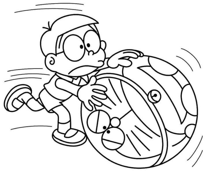 Tranh tô màu Nobita đáng yêu nhất cho bé tập tô (35)