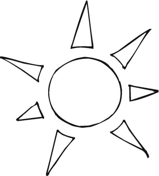 Tranh tô màu ông mặt trời dễ thương nhất cho bé tập tô (17)