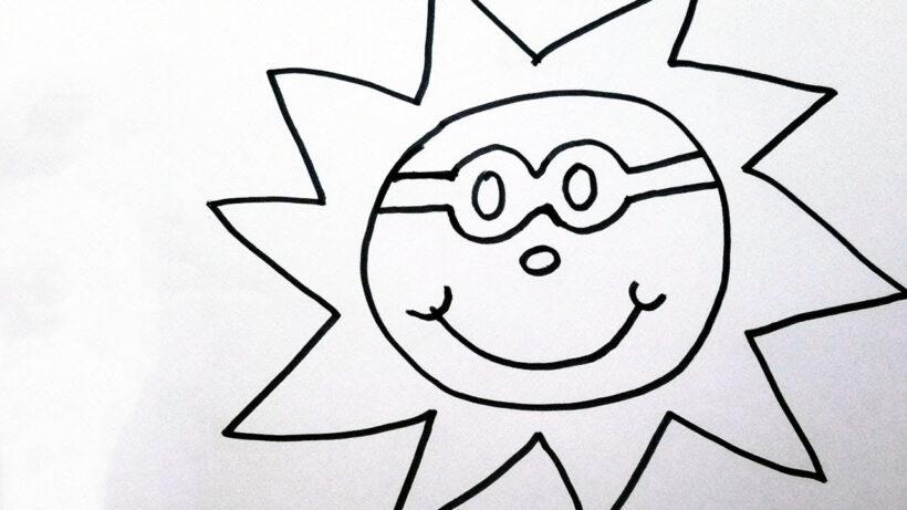 Tranh tô màu ông mặt trời dễ thương nhất cho bé tập tô (18)