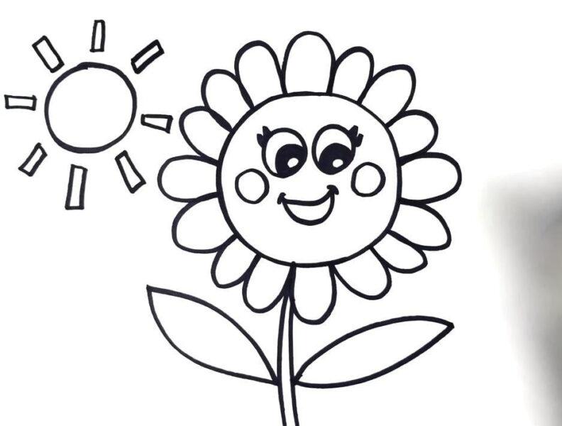 Tranh tô màu ông mặt trời dễ thương nhất cho bé tập tô (19)