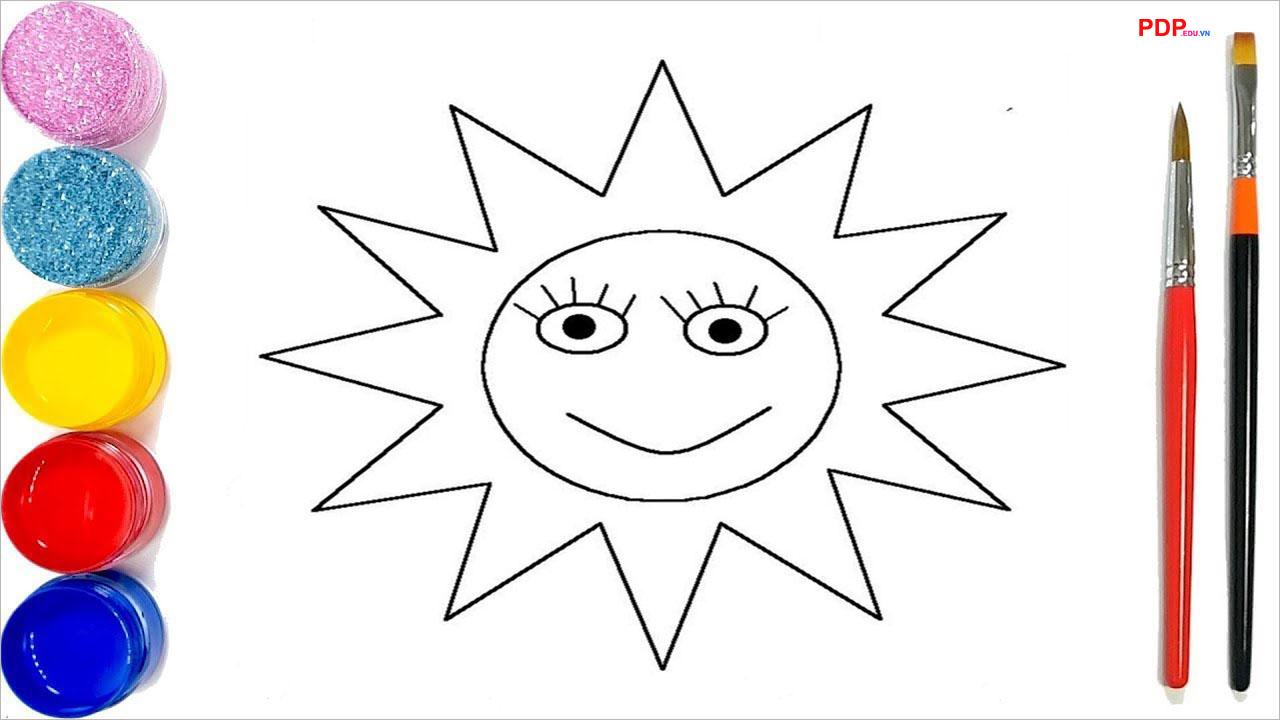 Tranh tô màu ông mặt trời đẹp nhất