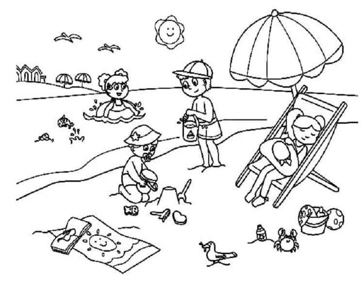 Tranh tô màu phong cảnh đẹp nhất cho bé tập tô (38)