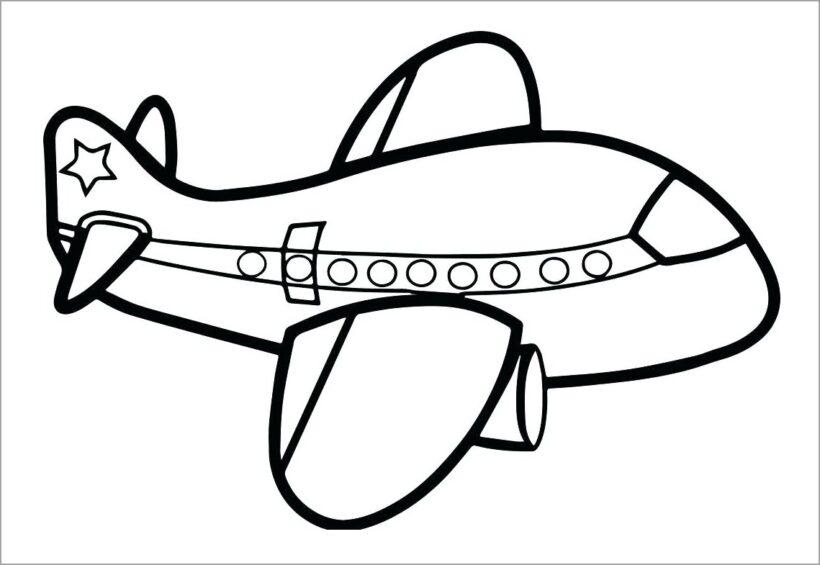 Tranh tô màu phương tiện giao thông hàng không
