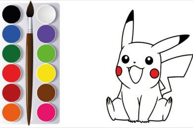 Tranh tô màu Pikachu đẹp nhất