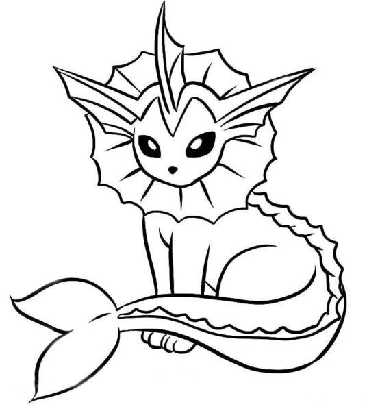 Tranh tô màu Pokemon hệ nước