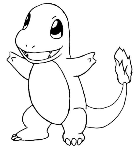 Tranh tô màu Pokemon ngộ nghĩnh cho bé tập tô (12)