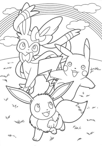 Tranh tô màu Pokemon ngộ nghĩnh cho bé tập tô (14)