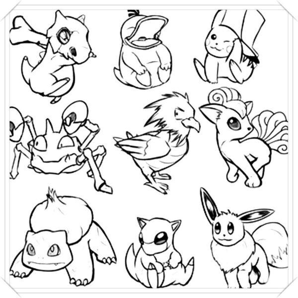 Tranh tô màu Pokemon ngộ nghĩnh cho bé tập tô (15)