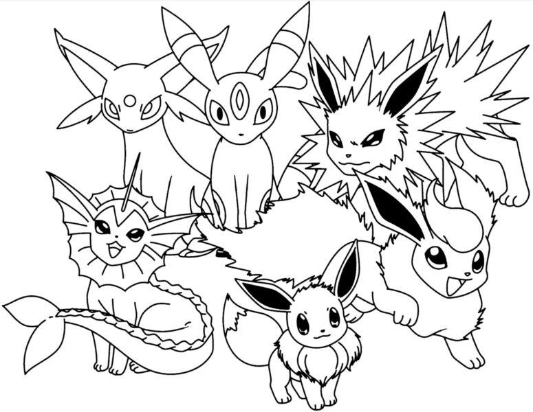 Tranh tô màu Pokemon ngộ nghĩnh cho bé tập tô (16)