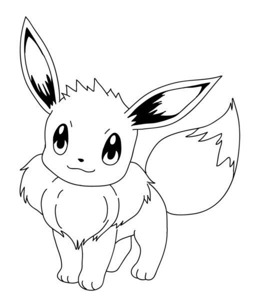 Tranh tô màu Pokemon ngộ nghĩnh cho bé tập tô (43)