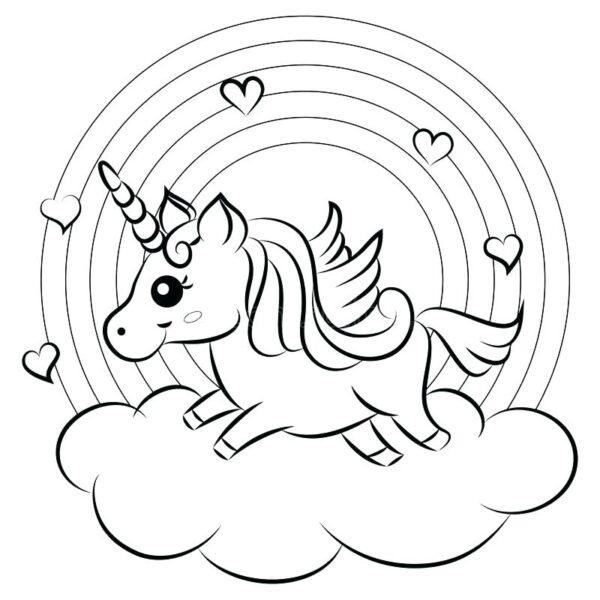 Tranh tô màu Pony cầu vồng
