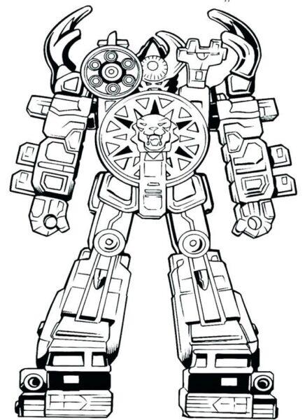 Tranh tô màu robot cho bé trai