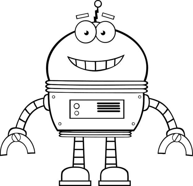 Tranh tô màu robot đẹp nhất cho bé tập tô (36)