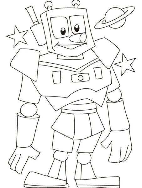 Tranh tô màu robot đẹp nhất cho bé tập tô (44)