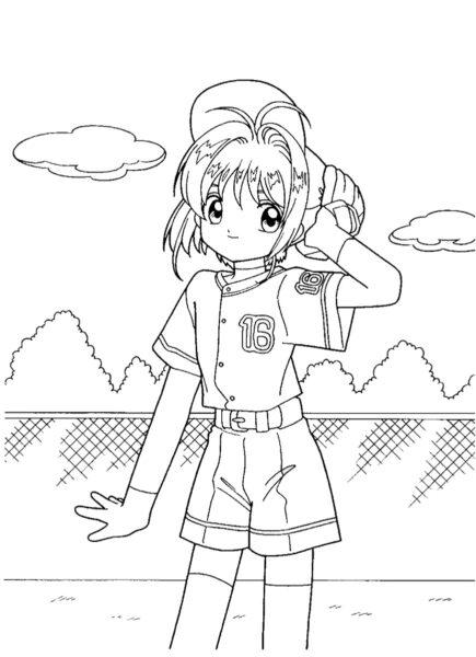 Tranh tô màu Sakura ngầu nhất cho bé tập tô (34)