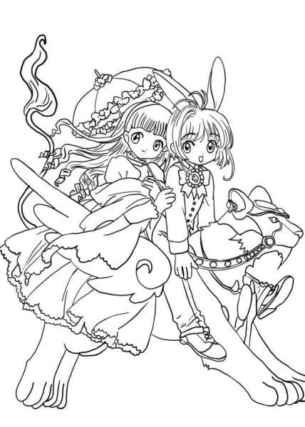 Tranh tô màu Sakura ngầu nhất cho bé tập tô (36)