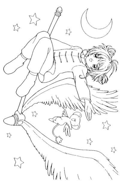 Tranh tô màu Sakura ngầu nhất cho bé tập tô (38)
