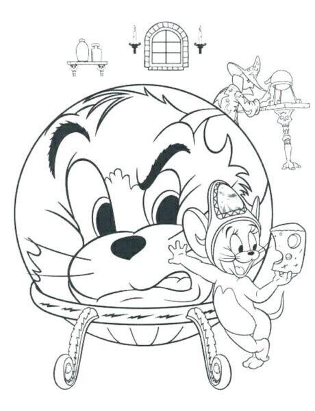 Tranh tô màu Tom and Jerry ngộ nghĩnh cho bé tập tô (21)