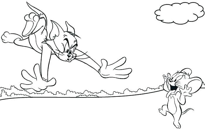 Tranh tô màu Tom and Jerry ngộ nghĩnh cho bé tập tô (25)