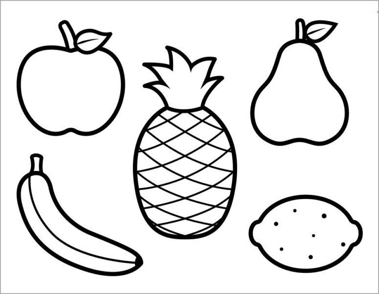 Tranh tô màu trái cây đẹp, đơn giản cho bé tập tô (1)