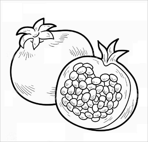Tranh tô màu trái cây đẹp, đơn giản cho bé tập tô (3)
