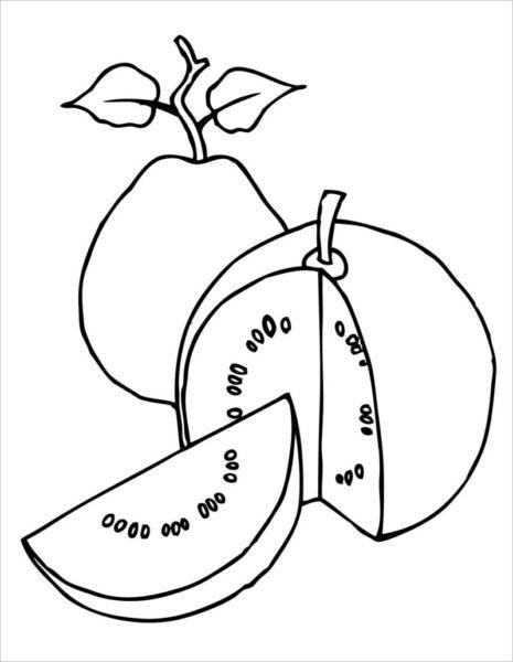 Tranh tô màu trái cây đẹp, đơn giản cho bé tập tô (4)