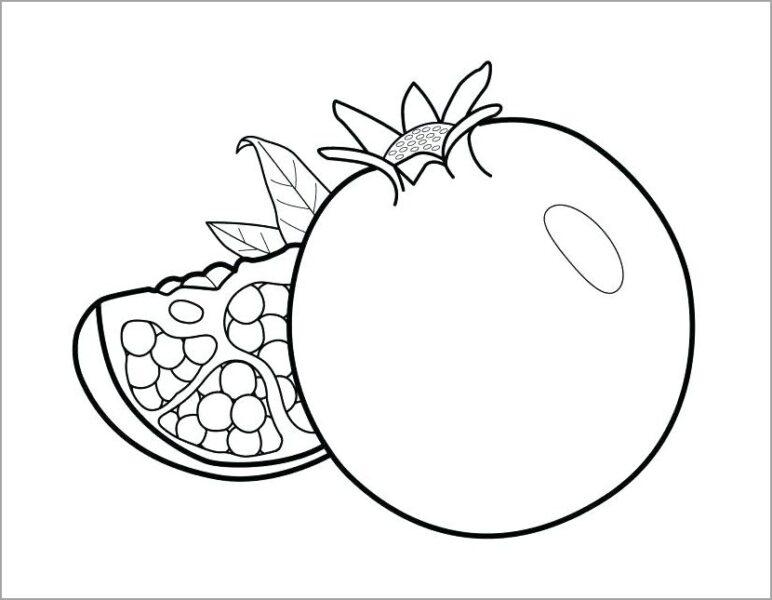 Tranh tô màu trái cây đẹp, đơn giản cho bé tập tô (5)