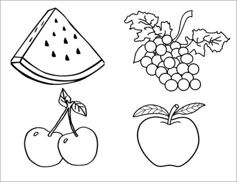 Tranh tô màu trái cây đẹp, đơn giản cho bé tập tô (8)