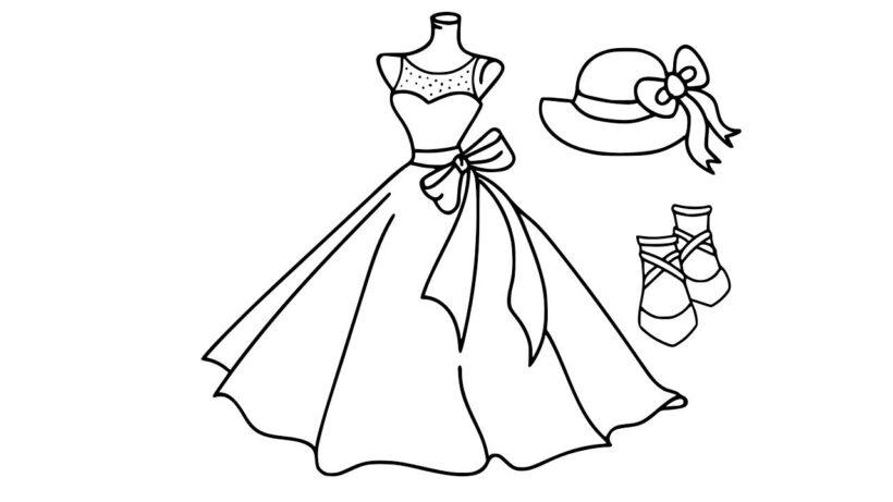 Tranh tô màu váy công chúa đẹp nhất dành tặng bé gái (10)