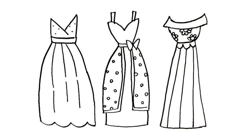 Tranh tô màu váy công chúa đẹp nhất dành tặng bé gái (11)