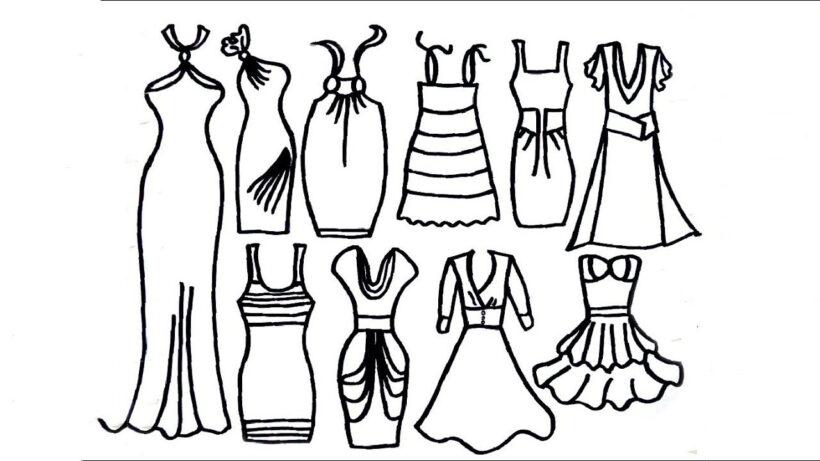 Tranh tô màu váy công chúa đẹp nhất dành tặng bé gái (12)