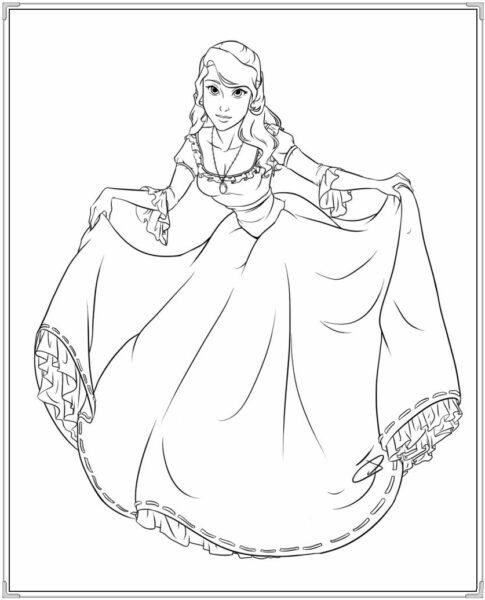 Tranh tô màu váy công chúa đẹp nhất dành tặng bé gái (13)