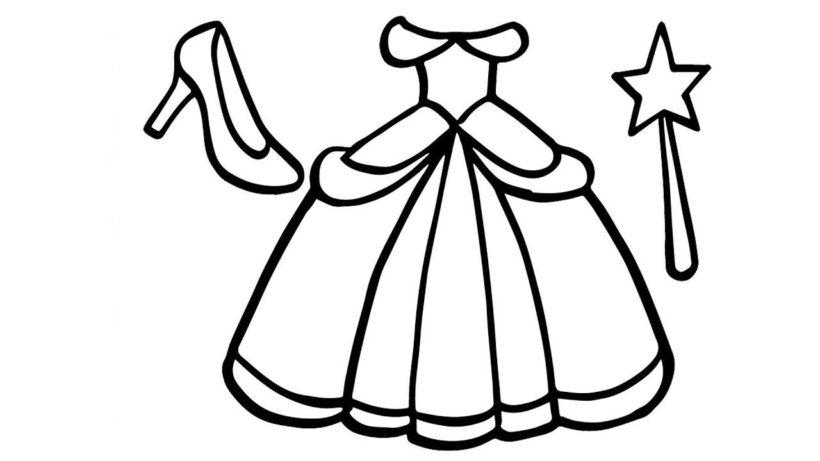 Tranh tô màu váy công chúa đẹp nhất dành tặng bé gái (14)