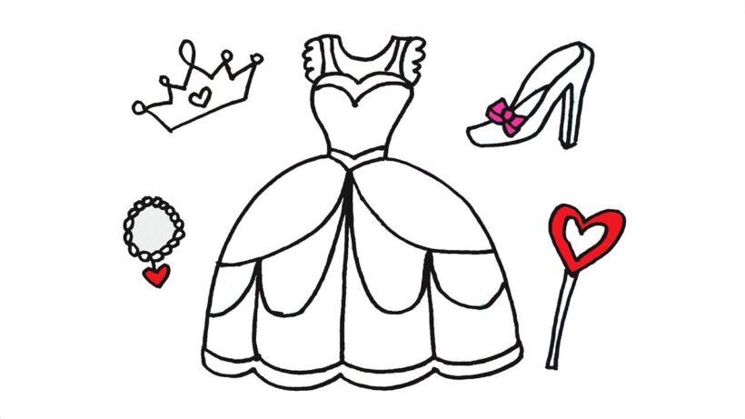 Tranh tô màu váy công chúa đẹp nhất dành tặng bé gái (17)