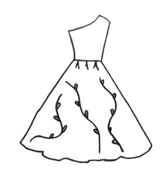 Tranh tô màu váy công chúa đẹp nhất dành tặng bé gái (19)